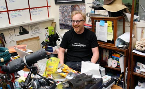 Adam Savage at his office