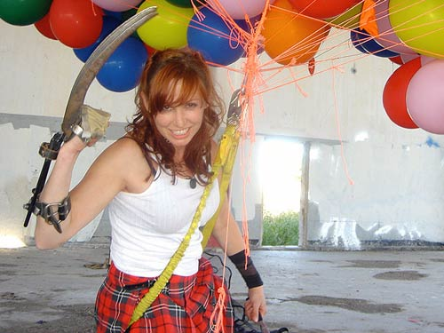 Kari Byron with wolverine claws