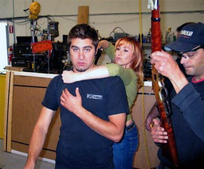 Tory Belleci with Kari Byron