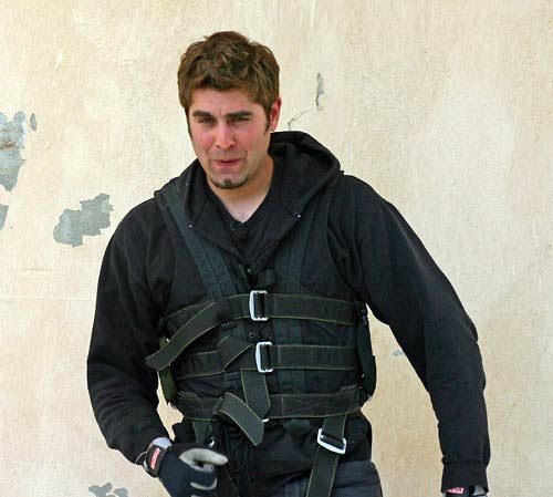 Tory Belleci in harness