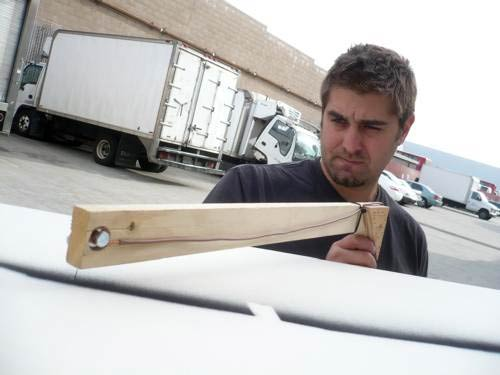 Tory Belleci building something